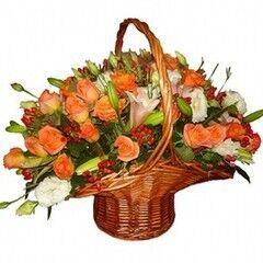 Магазин цветов Планета цветов Корзина с цветами №8