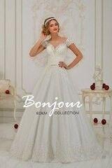 Свадебное платье напрокат А-силуэт Bonjour Платье свадебное «Kristen 2» из коллекции EDEM 2016
