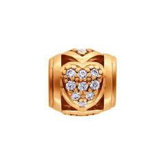 Ювелирный салон Sokolov Подвеска-шарм из золочёного серебра с фианитами 93030158