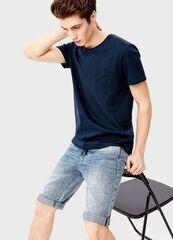 Кофта, рубашка, футболка мужская O'stin Однотонная футболка с карманом MT7S94-68