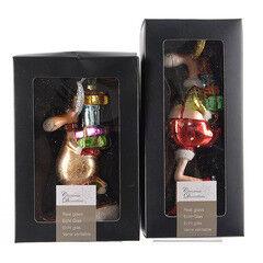 Елка и украшение mb déco Елочная игрушка «Олень с подарками»