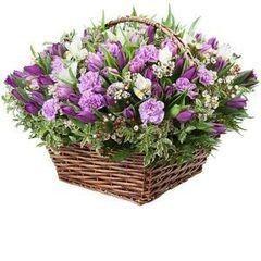 Магазин цветов Cvetok.by Цветочная корзина «Сливочный вкус»