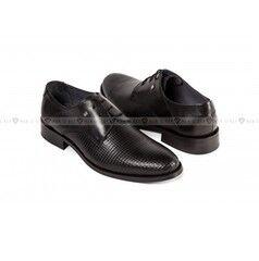 Обувь мужская Keyman Туфли мужские дерби черные с декоративной фактурой