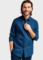 Кофта, рубашка, футболка мужская O'stin Однотонная рубашка MS6S11-69