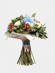 Магазин цветов Florita (Флорита) Букет из гортензии и малины