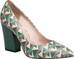 Обувь женская Ekonika Туфли женские 1037-01 africa green