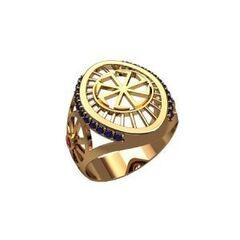 Ювелирный салон jstudio Печатка золотая с узором 30228