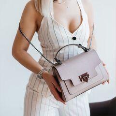 Магазин сумок Vezze Кожаная женская сумка C00497