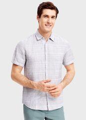 Кофта, рубашка, футболка мужская O'stin Рубашка из хлопка и льна MS1SB2-95