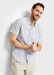 Кофта, рубашка, футболка мужская O'stin Рубашка в структурную полоску MS4S97-92