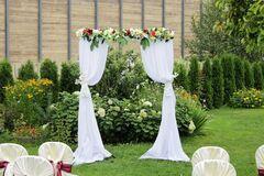 Магазин цветов Lia Гирлянда из цветов на прямую арку