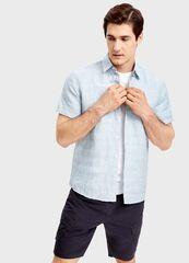 Кофта, рубашка, футболка мужская O'stin Рубашка из хлопка и льна MS1SB2-42