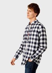 Кофта, рубашка, футболка мужская O'stin Мужская рубашка в клетку MS1V32-68