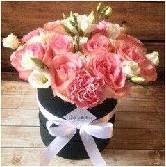 Магазин цветов LION Цветы в круглой коробке «Амстердам»