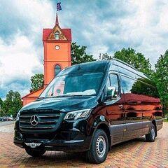 Прокат авто Аренда микроавтобуса Mercedes-Benz Sprinter Black Comfort 19 мест