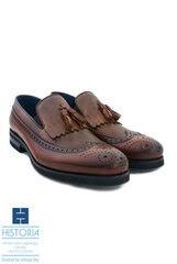 Обувь мужская HISTORIA Мужские туфли лоферы с кисточками и брогированием