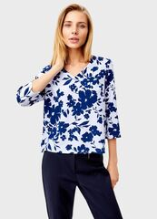 Кофта, блузка, футболка женская O'stin Блузка в цветочный принт LS4T31-61