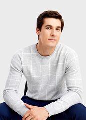 Кофта, рубашка, футболка мужская O'stin Джемпер в клетку MK1T54-92