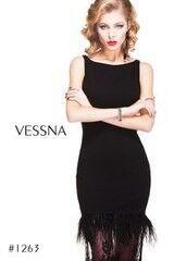 Вечернее платье Vessna Вечернее платье с перьями арт.1263 из коллекции VESSNA NEW