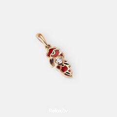 Ювелирный салон Белорусские Бриллианты Подвеска из золота со вставкой бриллиант синт. 41010048