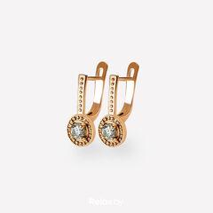 Ювелирный салон Белорусские Бриллианты Серьги из золота со вставкой бриллиант синт. 31010001