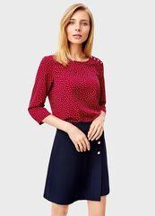 Кофта, блузка, футболка женская O'stin Принтованная блузка LS1T42-19