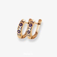Ювелирный салон Белорусские Бриллианты Серьги из золота со вставкой бриллиант синт. 31040031