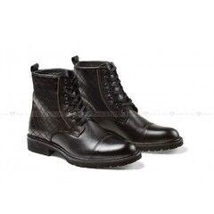 Обувь мужская Keyman Ботинки мужские черные кожаные со стеганым верхом