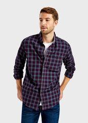 Кофта, рубашка, футболка мужская O'stin Рубашка из твила в клетку MS1T74-R7