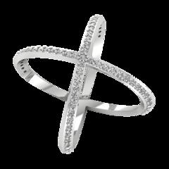 Ювелирный салон ZORKA Кольцо из серебра с фианитом 0210029-F
