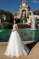 Свадебное платье напрокат А-силуэт Bonjour Платье свадебное «Elissa» из коллекции LA POESIE 2017