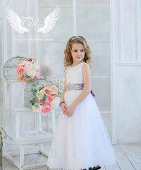 """Вечернее платье ALIZA Платье """"Белое в пол"""""""