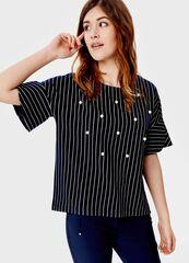 Кофта, блузка, футболка женская O'stin Трикотажный джемпер с декором LT1S64-68
