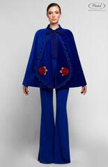 Костюм женский Pintel™ Комплект из накидки и комбинезона с расклешёнными брюками и рукавами NELQUEISHA