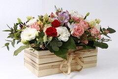 Магазин цветов Cvetok.by Цветочная корзина «Малибу»