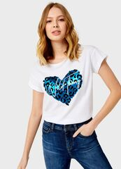 Кофта, блузка, футболка женская O'stin Футболка с принтом женская LT4UB2-00