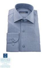 "Кофта, рубашка, футболка мужская HISTORIA Рубашка с бело-синим плетением ""куриная лапка"""