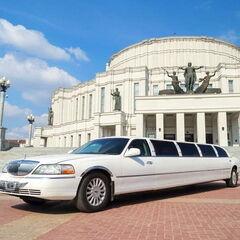 Прокат авто Прокат авто с водителем, Lincoln Town Car белого цвета, 13 мест