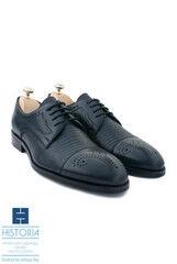 Обувь мужская HISTORIA Мужские туфли дерби с фактурной кожей черные