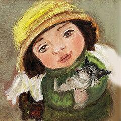 Подарок Славутасць Картина «Ангел с собачкой» tar03