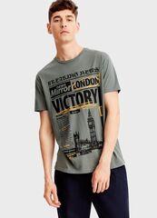 Кофта, рубашка, футболка мужская O'stin Футболка с принтом MT5T37-G7