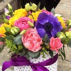 Магазин цветов Прекрасная садовница Цветочная композиция с тюльпанами