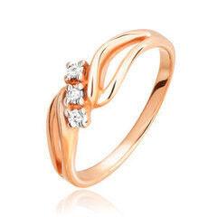 Ювелирный салон Jeweller Karat Кольцо золотое с бриллиантами арт. 3212728/9