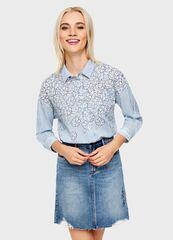 Кофта, блузка, футболка женская O'stin Рубашка с цветочным принтом LS1U51-66