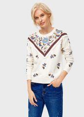 Кофта, блузка, футболка женская O'stin Принтованная толстовка LT1T6A-T2