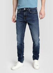 Брюки мужские O'stin Зауженные джинсы с потёртостями MP1W12-D3
