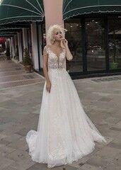 Свадебное платье напрокат А-силуэт Daria Karlozi Платье свадебное «Velvet Rose»