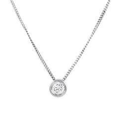 Ювелирный салон Evora Колье из серебра 925 пробы с фианитом 620067