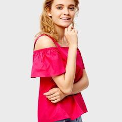 Кофта, блузка, футболка женская O'stin Блузка с открытыми плечами LS5SA1-X5