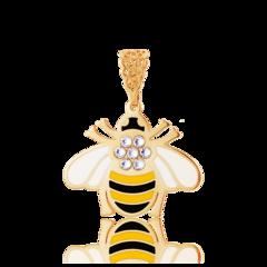 Ювелирный салон Jeweller Karat Подвеска серебряная в позолоте с эмалью и стразами арт. 2138935/93пбг-жг-чг